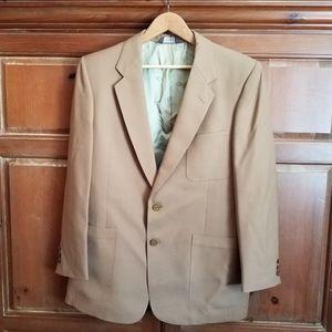 Vintage Christian Dior Men's Camel Blazer Jacket